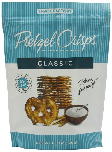 Snack Factory Pretzl Crsp, Classic, 6-Ounce (Pack of 6)