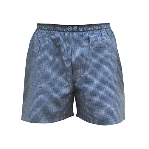 XLNC-Navy-Blue-Color-Cotton-Chequered-Boxer-With-EnzymeSoftener-Wash-Comfortable-Fit