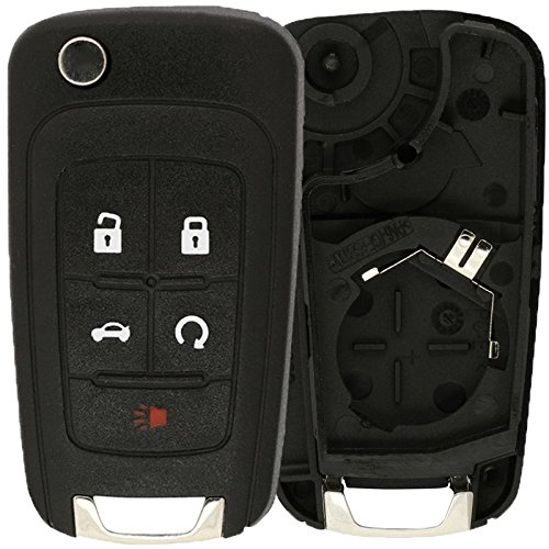 KeylessOption Just the Case Keyless Entry Remote Control Car Key Fob Shell Replacement For OHT01060512 (2010 Camaro Key compare prices)