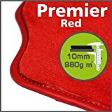 Audi A8 SWB (2nd Gen) 2003 - 2009 Premier Red Tailored Floor Mats