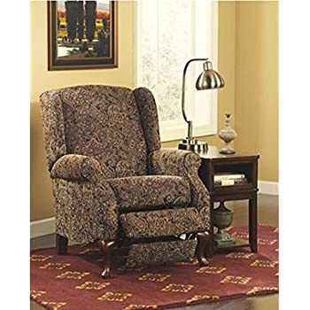 Signature Design by Ashley High Leg Recliner in Paisley Finish