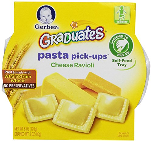 Gerber Graduates Pasta Pick-Ups Ravioli, Cheese, 8 Count, 6 Ounce (Gerber Pasta Pickups compare prices)