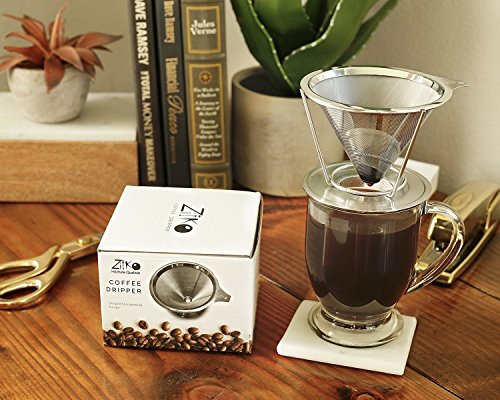 European Stainless Steel Single Cup Pour Over and Hand Drip Coffee Dripper / Filter with Stand | For Brewing Methods (Expresso Machine Portable compare prices)
