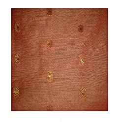 Chandari Women's Cotton Unstitched Fabrics (HK-124_Peach_Free Size)