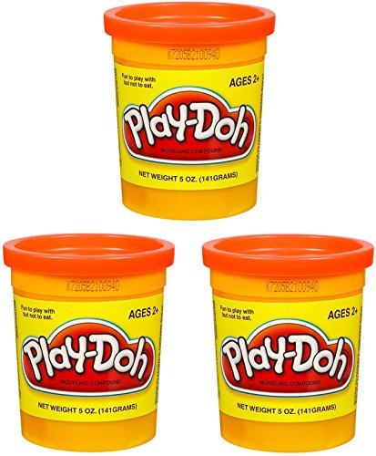 (3 Pack) PLAY-DOH Compound Orange - 5 oz Cans