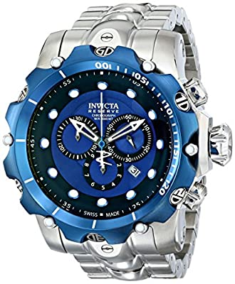 Invicta Men's 14624 Venom Analog Display Swiss Quartz Silver Watch