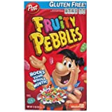 Post Fruity Pebbles Cereal, 11-Ounce Boxes (Pack of 4)