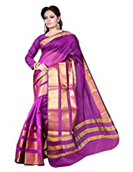 Asavari Magenta Contemporary Design Art Silk Banarasi Saree - B00ZPL4XO8