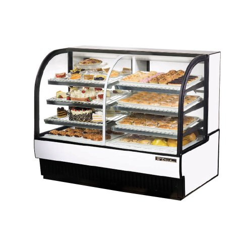 True White Dual Zone Refrigerated/Dry Bakery Case, 30.4 Cubic Ft - TCGDZ-59