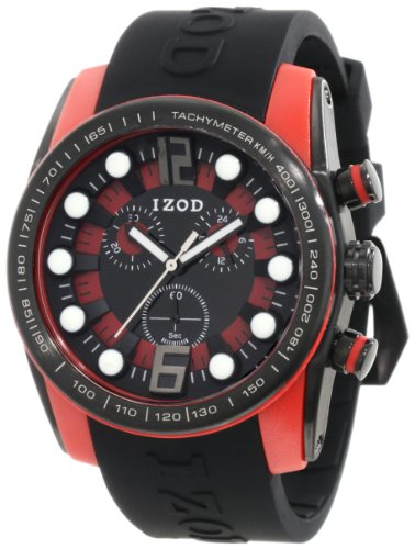 IZOD Men's IZS2/3 BLK/RED Sport Quartz Chronograph Watch