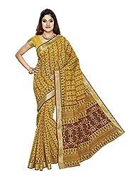 Suhanee Cotton Saree (Suhagan - 1004 _Yellow)