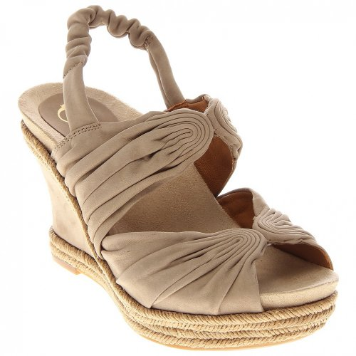 Earthies Women's Javea Sandals,Light Khaki Nubuck,8.5 M US