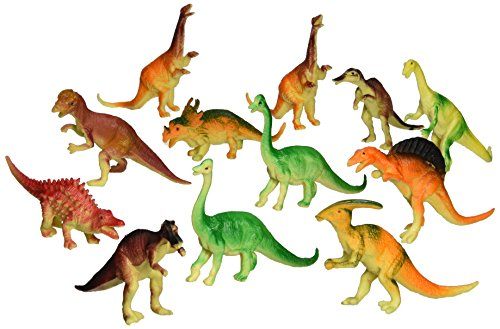 "Oriental Trading  6"" - 7"" Assorted PVC Dinosaurs Action Figure (12-Piece)"