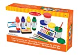 Melissa & Doug Easel Accessory Set - Paint, Cups, Brushes, Chalk, Paper, Dry-Erase Marker