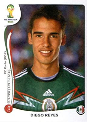2014 Panini World Cup Soccer Sticker #78 Diego Reyes Mint