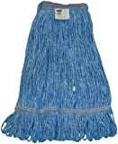 """Zephyr Blendup Blue Blended Natural and Synthetic Fibers  Loop Mop Head with 1-1/4"""" Narrow Headbands (Pack of 12)"""