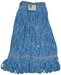 Zephyr 26312 Blendup Blue Blended Natural and Synthetic Fibers Medium Loop Mop Head with 1-1/4\