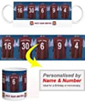 Personalised West Ham United FC Mug
