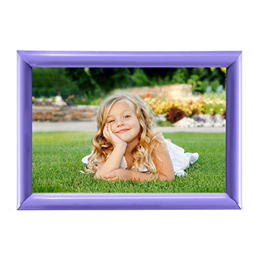 BOJIN 6x8 Inch Picture Frame Without Mat Plastic Home Fun Collage Table Top Photo Frame - Purple (New York Picture Frame compare prices)