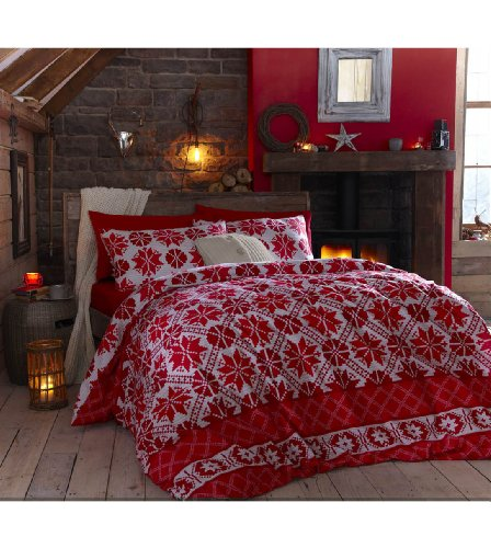 Red Duvet Cover Twin front-122650