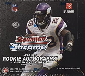 2008 Bowman Chrome Football Cards Unopened Hobby Box by Bowman