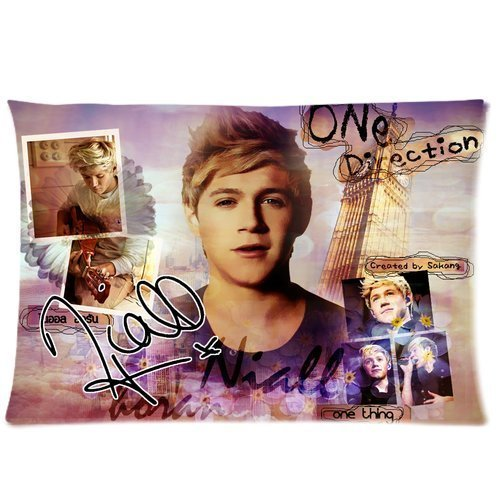 Niall Horan - One Direction Pillowcase, Colorful Throw Pillow Case (one side) Customized Home Fashion Zippered Pillowcase at Private-custom (One Direction Bedroom Curtains compare prices)