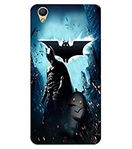 ColourCraft SuperHero Design Back Case Cover for OPPO F1 PLUS