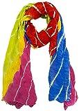 eFashionIndia Women's Crepe Dupatta (Multi-Coloured)