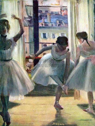 EDGAR DEGAS THREE DANCERS IN A PRACTICE ROOM OLD MASTER ART PAINTING PRINT 12x16 inch 30x40cm 781OM