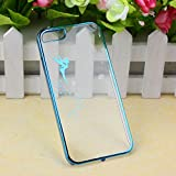 Suppion Transparent Hard Skin Case Cover For IPhone 5 5S (Blue)