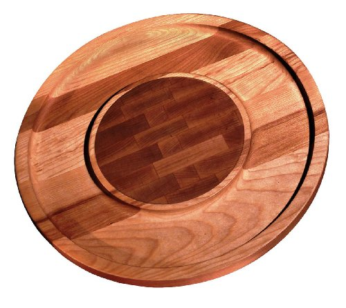 Ironwood Gourmet Acacia Wood Round Cheese and Cracker Board