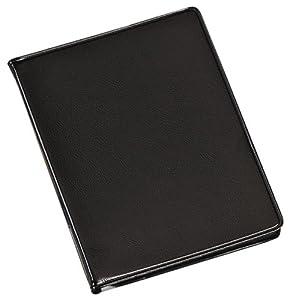 TOPS Cardinal Sealed Vinyl 48 Card File, Black, (768 610)