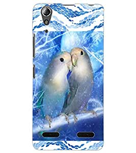 ColourCraft Love Birds Design Back Case Cover for LENOVO A6000 PLUS