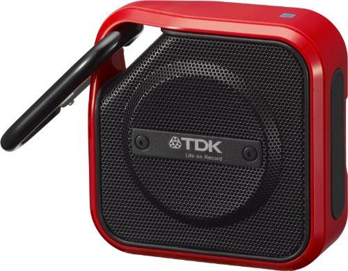 TDK Life on Record Bluetoothワイヤレスポータブルスピーカー アウトドアに強い防塵・防滴(IP64相当) iPhone対応 NFC対応 TREK Microシリーズ レッド A12RD