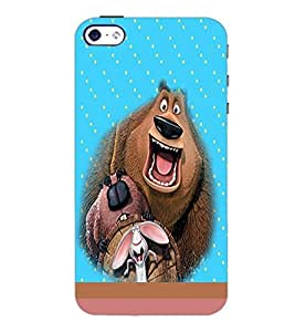 PrintDhaba Funny image D-4696 Back Case Cover for APPLE IPHONE 5 (Multi-Coloured)
