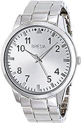 Breda Men's 1659B Analog-Display Quartz Silver-Tone Watch