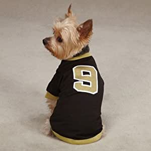 Medium #9 Drew Brees Dog Jersey New Orleans Saints NBA Pet Puppy Mesh T Shirt Clothes Apparel