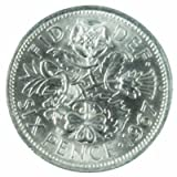 Loose ex circulation Silver Plated Lucky Sixpence (XLUCKY6LOOSEGP)