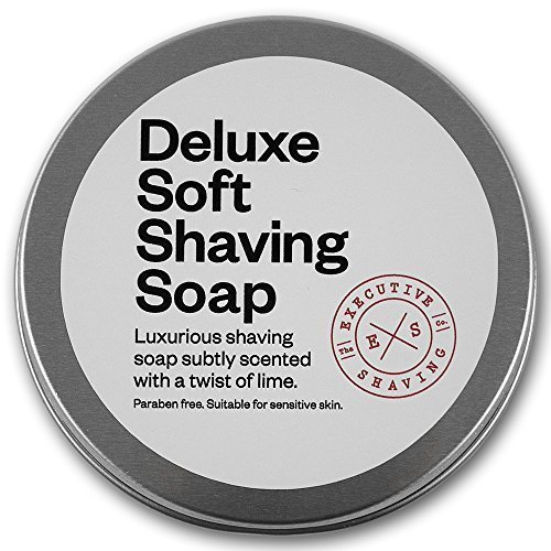 executive-shaving-deluxe-soft-shaving-soap-lime-scented-100g-tin-ideal-for-sensitive-skin