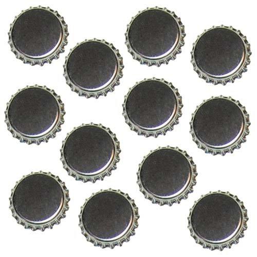 Silver Chrome Flattened Bottle Caps