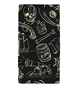 Cute pattern Back Case Cover for Sony Xperia T2