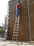 3.99m TRADE MASTER 3 Section Extension Ladder / Ladders with Integral Stabiliser Bar