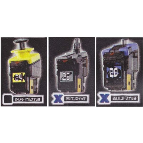 11 Set of 3 Bandai Gashapon teapon Narikiri Hero play Kamen Rider Fourze Astro Switch