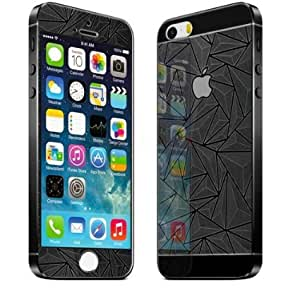 Explosion Proof 3D Tempered Glass Screen Protector For iPhone 4/4S Front And Back ( Colour - Blue )