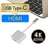 USB 3.1 Type-C to HDMI変換アダプター MEIYE ビデオコンバータ4k解像度に対応 音声出力 新版 2015 MacBook Google Chromebook Pixel及び ASUS Zen AiOなどUSB 3.1 Type Cポートが搭載のMacやWindowsパソコンに対応
