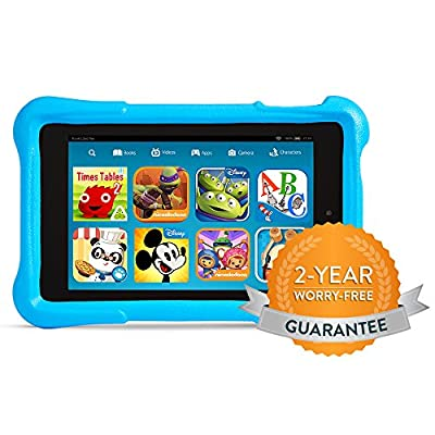 "Fire HD 6 Kids Edition, 6"" HD Display, Wi-Fi, 8 GB, Blue Kid-Proof Case"