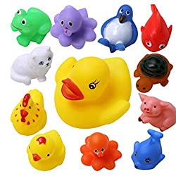 Elektra 12 pcs/Lot Mixed Different Animal Bath Toys Children Washing Education Toys