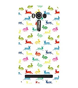 printtech Rabbit Design Abstract Back Case Cover for Asus Zenfone 2 Laser ZE550KL / Asus Zenfone 2 Laser ZE550KL (5.5 Inches)