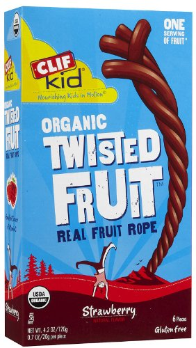 Clif Bar Kid Organic Twisted Fruit Pieces Strawberry 6 X .7 Oz.