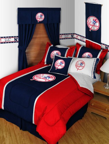 New York Yankees Queen Comforter Pillow Shams Mvp Bed Set